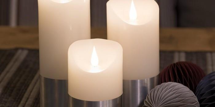 Zoom sur les bougies LED à flamme vacillante